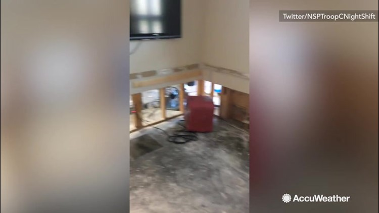 Flooding damages State Patrol Office