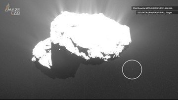 Object Seen Circling Comet 67P in Old Rosetta Photos