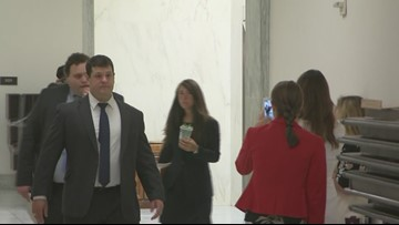 Hope Hicks arrives to talk to House lawmakers