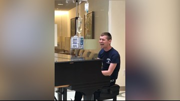 Hospitalized music student inspires fellow patients with original song