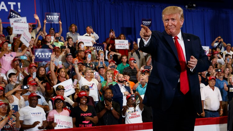 Trump rally September 9 Fayetville NC