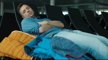 Here's how to get some sleep if you're stuck at the airport