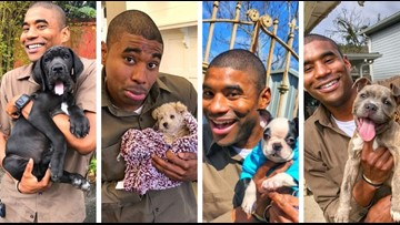 Forget bad blood between mailmen and dogs, this UPS driver is befriending pups on his route