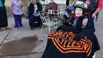 Vietnam veteran gets his dying wish: One final ride