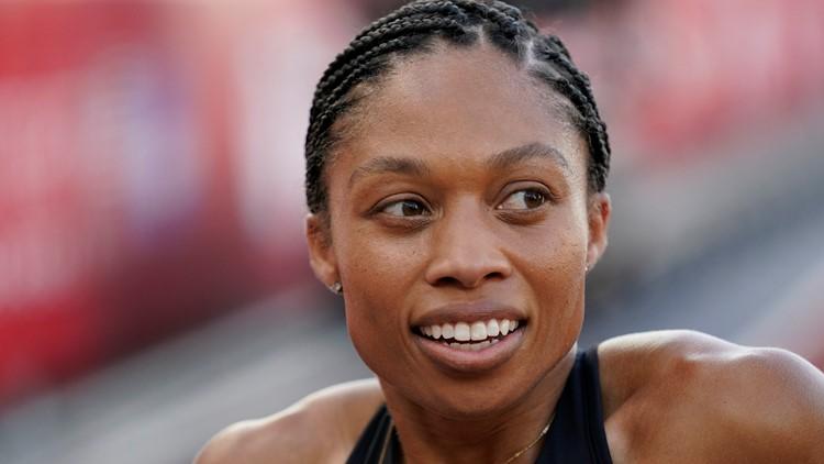 When does Allyson Felix run at the Tokyo Olympics?