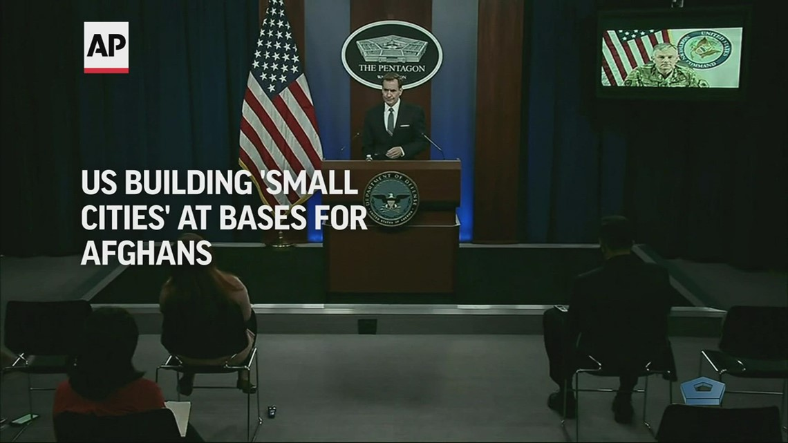 US building 'small cities' at bases for Afghans
