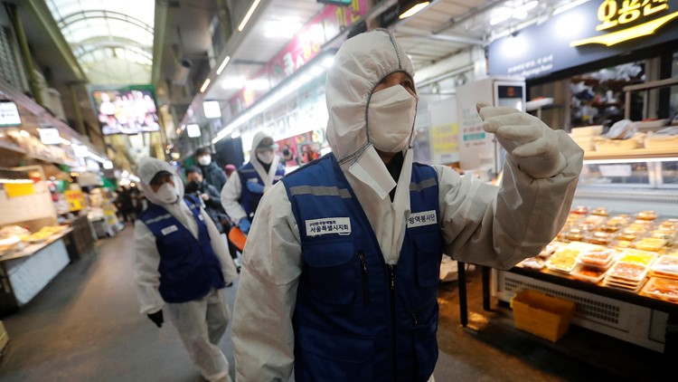 South Korean virus cases jump again; Iran death toll reaches 50