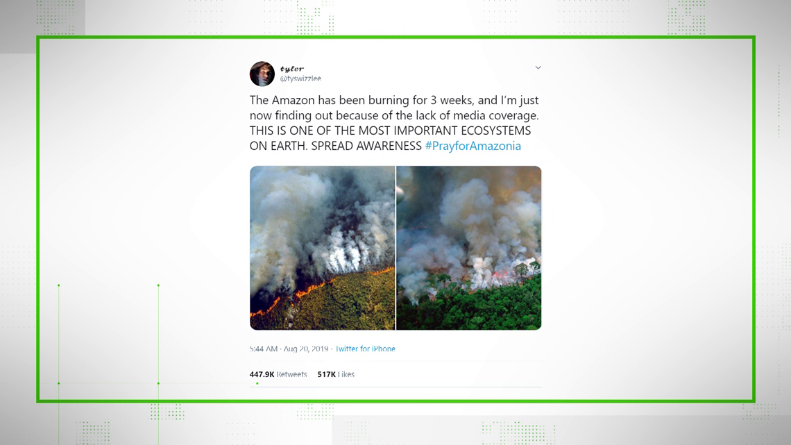 VERIFY: Facts vs. Fiction on fires in the Amazon