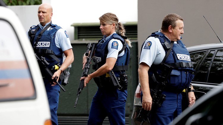 New Zealand Mosque Shooting authorities respond March 15 2019 AP