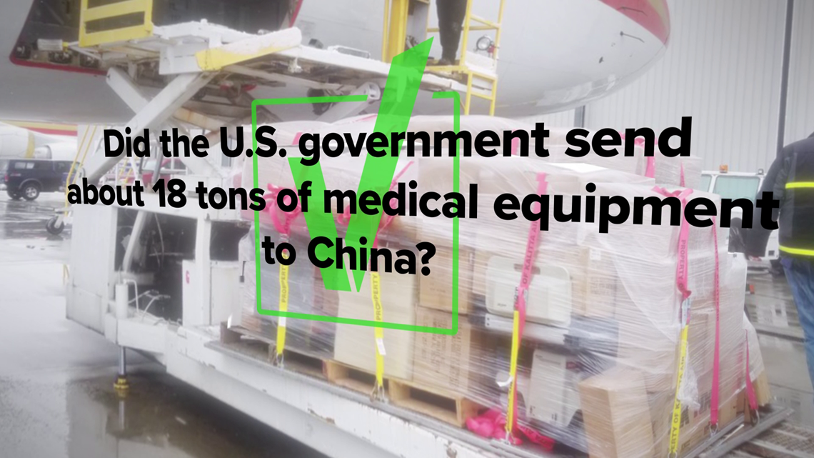 VERIFY: Yes, the US sent about 18 tons of medical supplies to China in early February