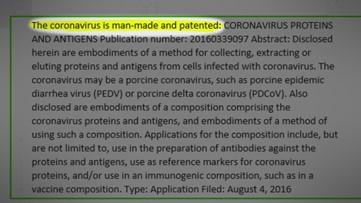 VERIFY: 'Coronavirus patents' are from older viruses, not current strain