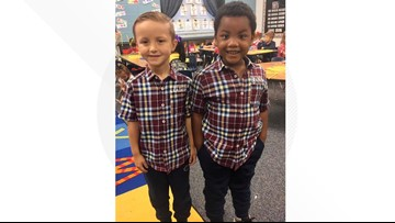 Their skin might be different colors, but these boys see themselves as twins