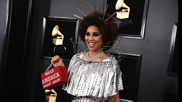Grammys 2019: Celebs capture attention in pro-Trump outfits