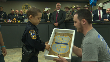 6-year-old with incurable cancer becomes police officer so she can fight her disease