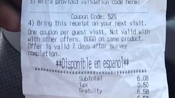 Customer says Jack in the Box charged him 100 percent gratuity