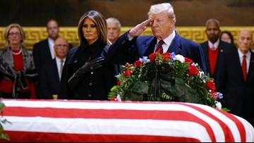 LIVE BLOG: President Trump, First Lady pay respects to President Bush at U.S. Capitol