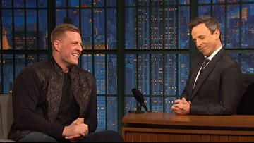 JJ Watt admits on late night TV that he left the Super Bowl before it even started