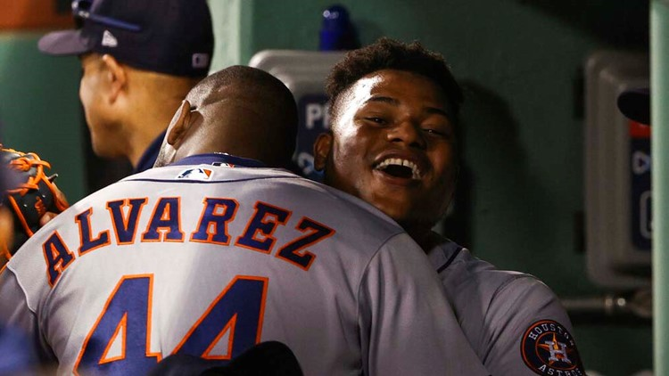 Sweat, whistles and blinking lights: Red Sox broadcasters, fans accuse Astros Valdez, Alvarez of cheating in Game 5