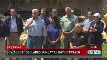 Vice President speaks outside Rockport church devastated by Harvey