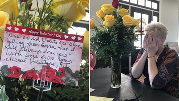 Debbie's husband lost his battle with cancer, but he made sure she got one final Valentine's Day gift