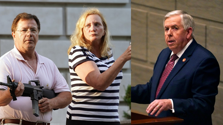Gov. Parson pardons Mark, Patricia McCloskey of charges related to pointing guns at protesters