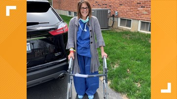 Woman returns home after spending days on a ventilator due to COVID-19 diagnosis