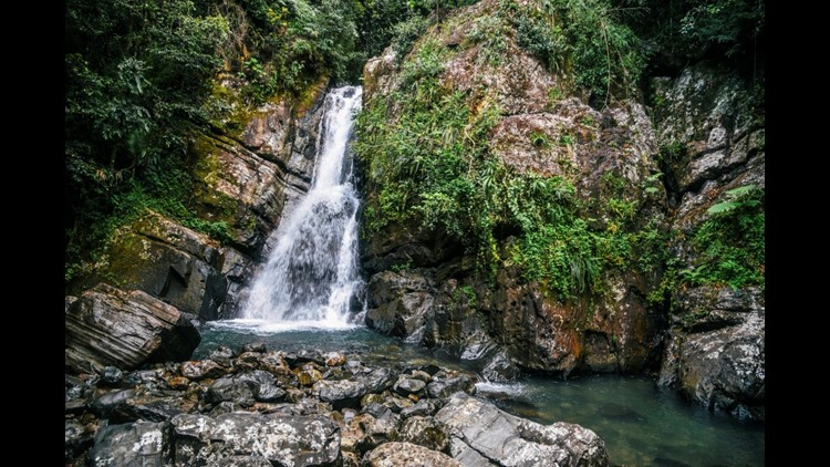 La Mina Falls in El Yunque National Forest, Puerto Rico. (Photo by Alisha Bube/Getty Images)