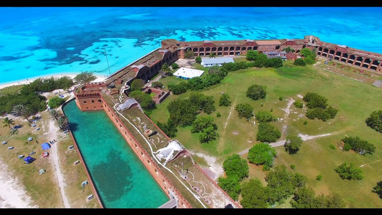Fort Jefferson is one of the most popular attractions of Dry Tortugas National Park.(Photo by Mia2you / Shutterstock.com)