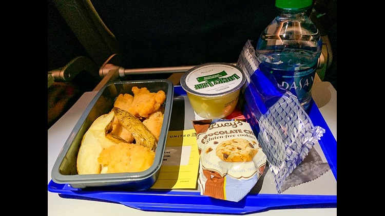 United's kid meal. (Photo by Dia Adams/The Points Guy)