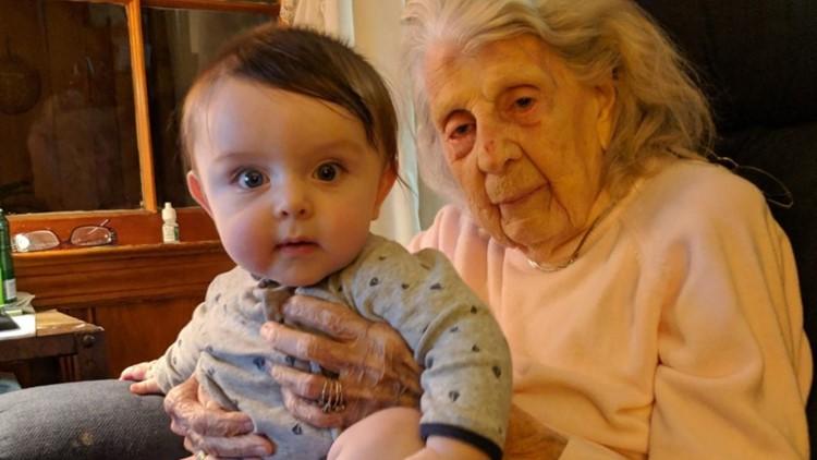 Grandson celebrates 1st birthday on SC great-grandmother's 101st birthday