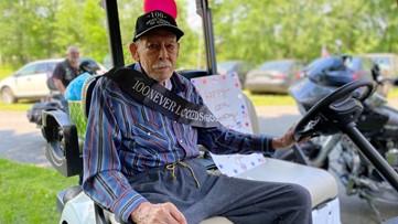 Dozens gather in Augusta to celebrate WWII veteran's 100th birthday