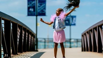 Plano girl battling cancer takes off wig during photoshoot for national nonprofit