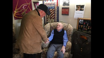 Man travels from France to Ohio to meet WWII Veteran to say 'thank you'