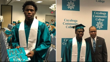 Warrensville Heights student graduates from college before earning high school diploma