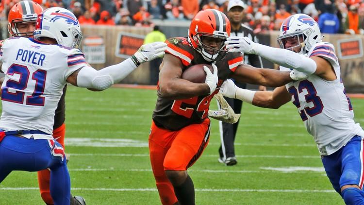 Nick Chubb Buffalo Bills-Cleveland Browns Football