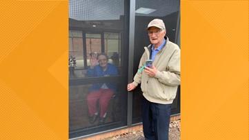 Love found a way: Saluda couple celebrates 71st anniversary through nursing home window