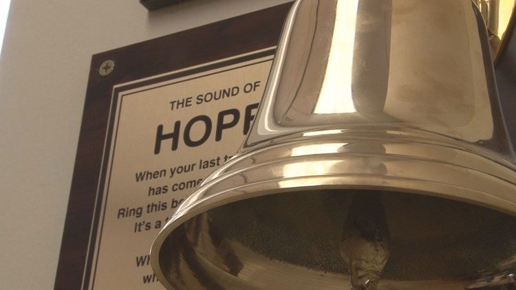 'I just beat it:' 10-year-old rings bell to celebrate beating cancer