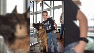 9-year-old boy raises nearly $80K to give bulletproof vests to police K-9s