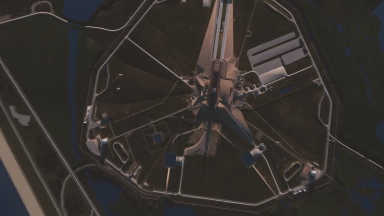 SpaceX Falcon Heavy demonstration animation