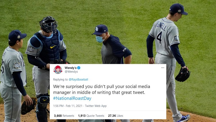 Grilled like a burger: How Wendy's roasted the Rays on Twitter