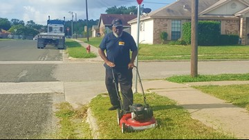School bus driver mows grass at stop so his students don't have to stand in the weeds