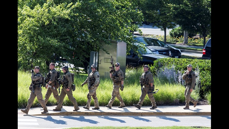 PHOTOS: Massive police response to fatal shooting at Capital Gazette