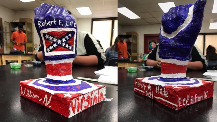 Student's Confederate-themed school project causes stir with teacher, principal