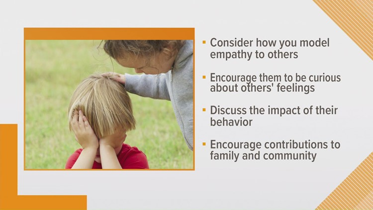 The Parenting Center gives tips to help your child strengthen empathy