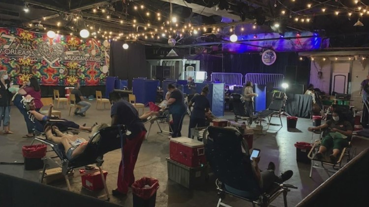 The price is blood for this New Orleans local music socially distanced event