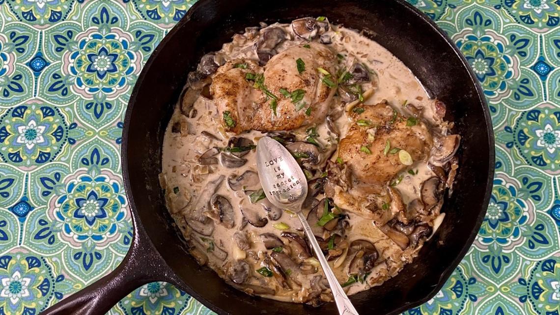 Recipe: Creamy Prosecco Chicken with Mushrooms