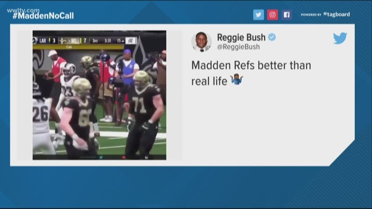 Even video game simulation of New Orleans Saints' game throws the flag