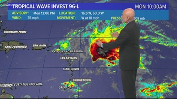 Tropical Update 5pm Monday