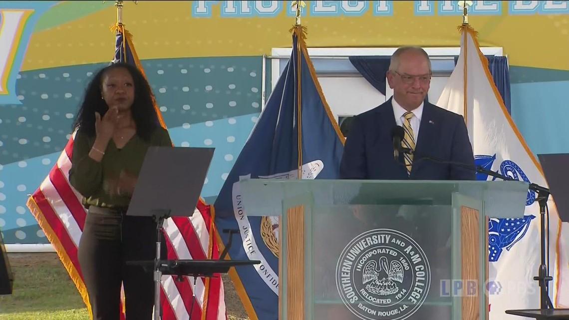 Gov. Edwards gives State of Louisiana speech