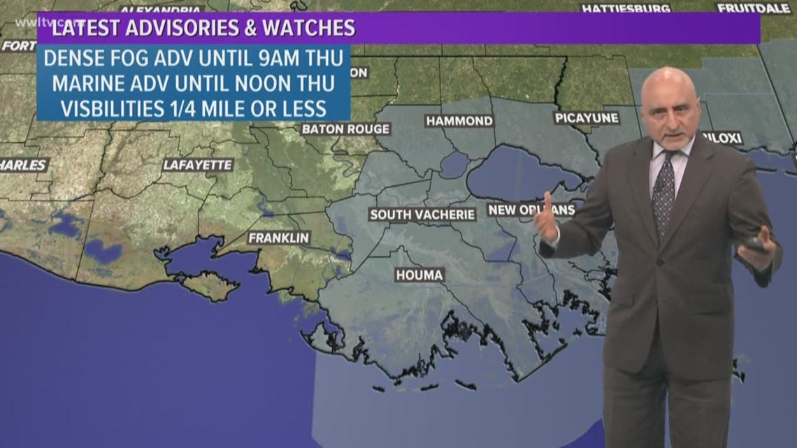 Local Weather Expert Forecast: Dense Fog Advisory & scattered showers continue